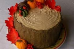 Fall tree trunk cake