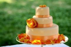 Orange-wed-cake-flowers